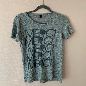 J. Crew merci graphic tee shirt